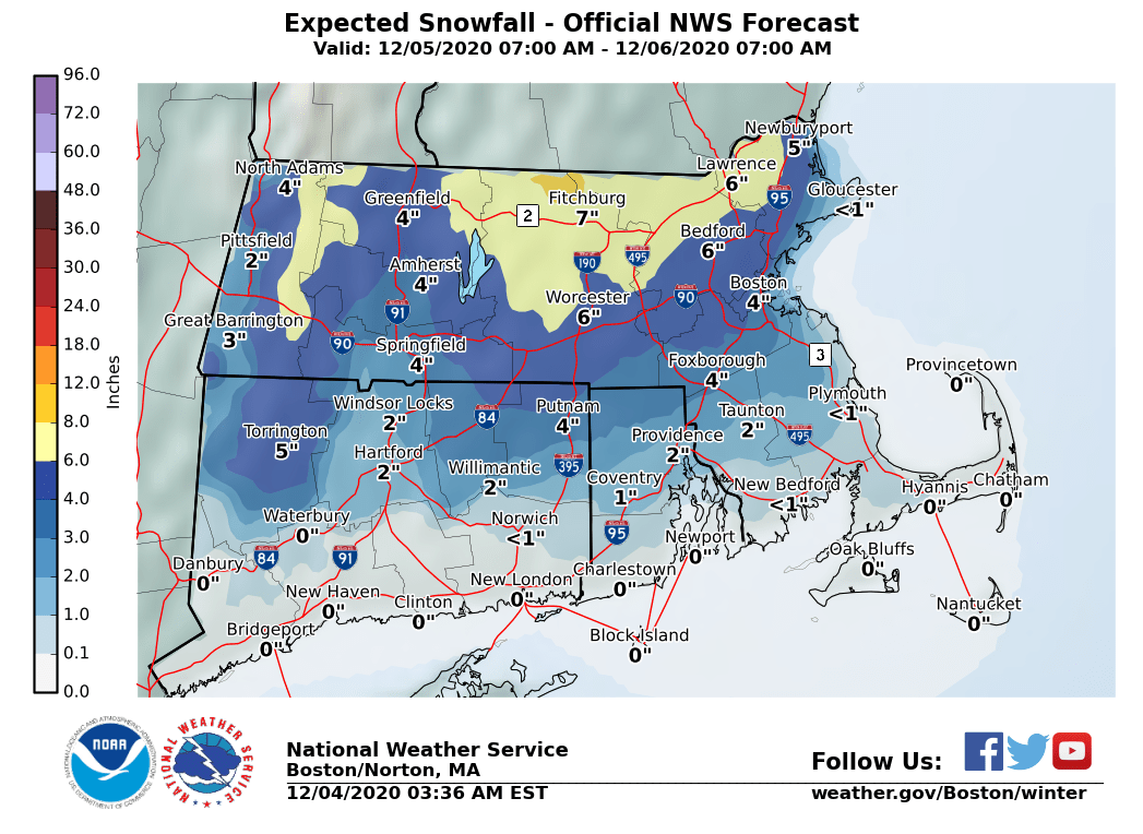 Expected Snowfall
